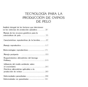 40. Tecnología para la Produciión de Ovinos de Pelo