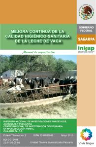 Portada Mejora continua de la calidad higiénico-sanitaria de la leche de vaca