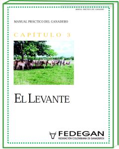 201.  MANUAL GANADERO CAPITULO 3 EL LEVANTE