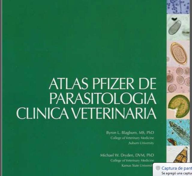 446. Atlas Pfizer de Parasitologia clinica veterinaria